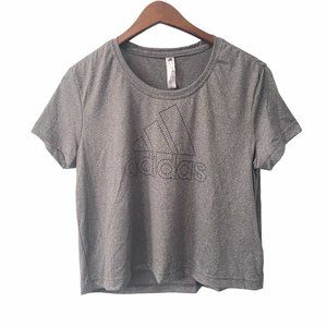 NWT Adidas Badge of Sport Gray Cropped T-Shirt S
